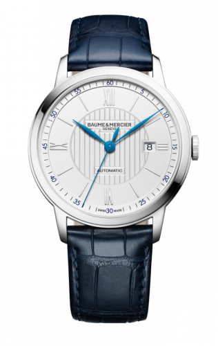 Baume & Mercier 10333 : Classima Executives Automatic 42 Stainless Steel / Silver / Alligator