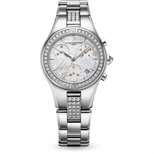 Baume & Mercier 10017 : Linea Chronograph Quartz 32 Diamond