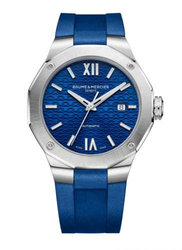 Baume & Mercier 10619 : Riviera 42 Stainless Steel / Blue / Rubber