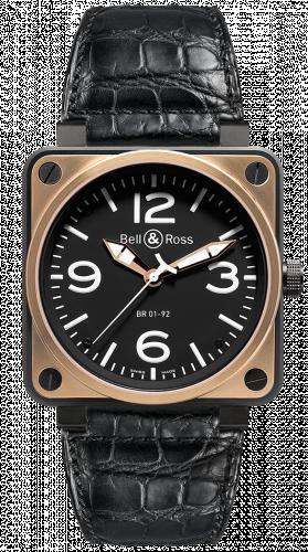 BR0192-BICOLOR : Bell & Ross BR 01 92 Pink Gold & Carbon