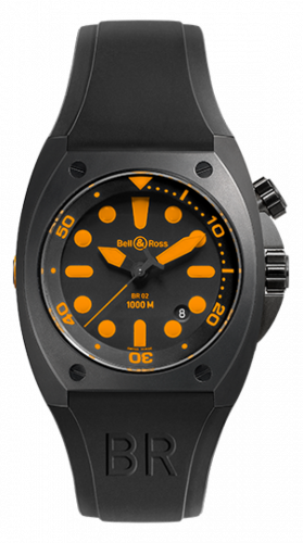 Bell & Ross BR02-ORANGE : BR 02-92 Orange