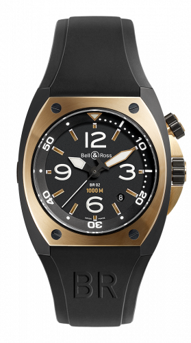 Bell & Ross BR02-PINKGOLD-CA : BR 02 92 Rose Gold & Carbon