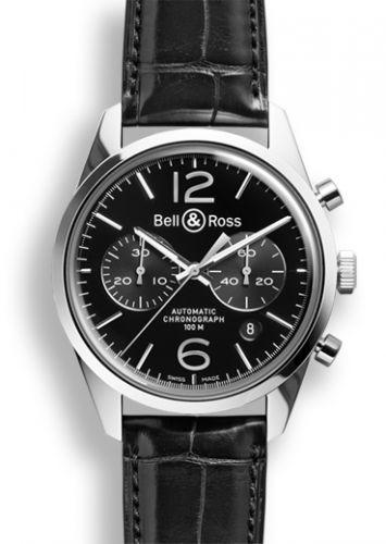 Bell & Ross BRG126BLSTSCR : BR 126 Officer Black Chronograph