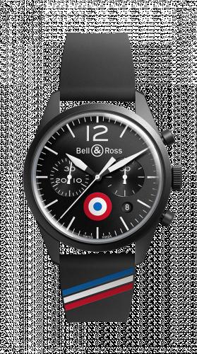 Bell & Ross BRV126-BL-CA-CO/FR : BR 126 Insigna FR Chronograph