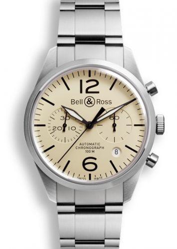 Bell & Ross BRV126BEISTSST : BR 126 Original Beige Chronograph