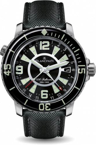 Blancpain 50021-12B30-52B : Fifty Fathoms GMT Stainless Steel / Black / Canvas