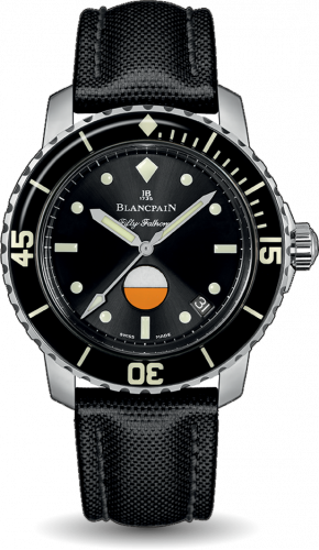 Blancpain 5008-1130-B52A : Fifty Fathoms MIL-SPEC Stainless Steel / Black / Canvas