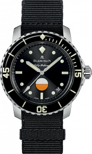 Blancpain 5008-1130-NABA : Fifty Fathoms MIL-SPEC Stainless Steel / Black / Canvas