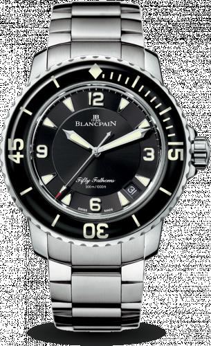 Blancpain 5015-1130-71S : Fifty Fathoms Automatique Stainless Steel / Black / Bracelet