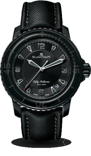 Blancpain 5015-11C30-52A : Fifty Fathoms Automatique DLC / Black / Black Canvas