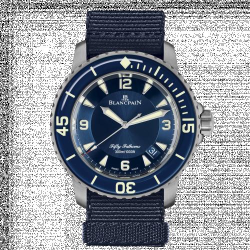 Blancpain 5015-12B40-NAOA : Fifty Fathoms Blue / Blue / Blue NATO