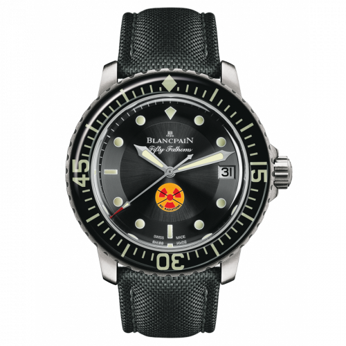 Blancpain 5015B-1130-52 : Fifty Fathoms Tribute to Fifty Fathoms / Stainless Steel / Black / Black Canvas