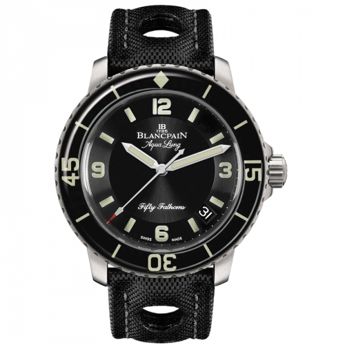 Blancpain 5015C-1130-52B : Fifty Fathoms Tribute to Fifty Fathoms Aqua Lung / Stainless Steel / Black / Black Canvas