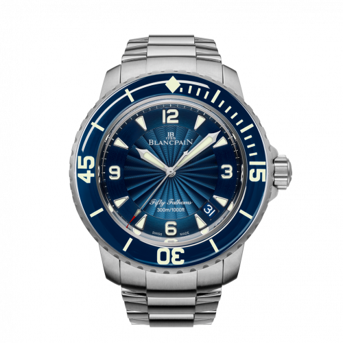 Blancpain 5015D-1140-71B : Fifty Fathoms Automatique Stainless Steel / Blue / Bracelet