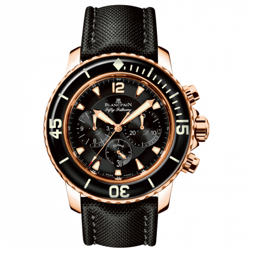 Blancpain 5085F-3630-52 : Fifty Fathoms Chronographe Flyback Red Gold / Black / Black Canvas
