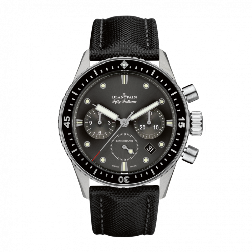 Blancpain 5200-1110-B52A : Fifty Fathoms Bathyscaphe Flyback Chronograph Stainless Steel / Grey / Black Canvas
