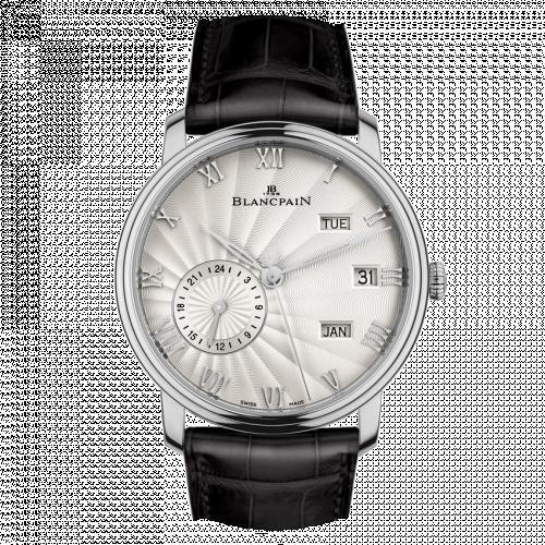 Blancpain 6670-1542-55B : Villeret Quantième Annuel GMT White Gold / Opalin Flinqué