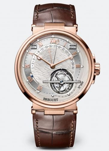 Breguet 5887BR/12/9WV : Marine Tourbillon Equation of Time 5887 Rose Gold / Silver / Alligator
