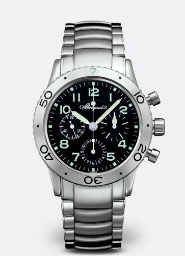 Breguet 3800ST/92/SW9 : Type XX Stainless Steel / Black / Bracelet