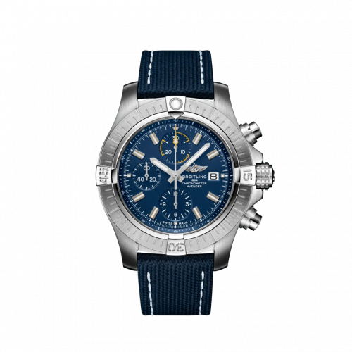 Breitling A13317101C1X1 : Avenger Chronograph 45 Stainless Steel / Blue / Military / Pin
