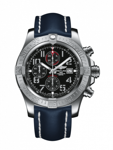 Breitling A1337111/BC28/101X/A20BA.1 : Super Avenger II Stainless Steel / Volcano Black / Calf / Pin