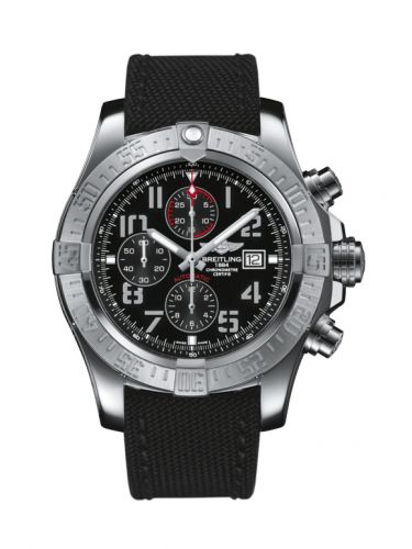 Breitling A1337111/BC28/104W/A20BA.1 : Super Avenger II Stainless Steel / Volcano Black / Military / Pin