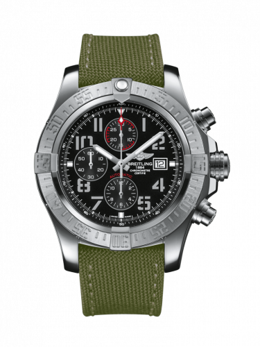 Breitling A1337111/BC28/105W/A20BA.1 : Super Avenger II Stainless Steel / Volcano Black / Military / Pin