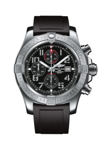 Breitling A1337111/BC28/135S/A20S.1 : Super Avenger II Stainless Steel / Volcano Black / Rubber / Pin