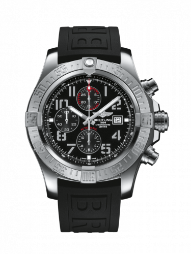 Breitling A1337111/BC28/154S/A20S.1 : Super Avenger II Stainless Steel / Volcano Black / Rubber / Pin