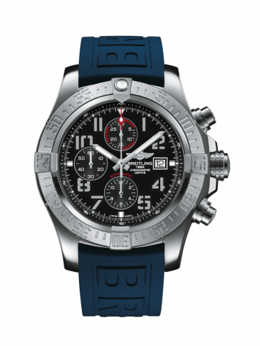 Breitling A1337111/BC28/159S/A20S.1 : Super Avenger II Stainless Steel / Volcano Black / Rubber / Pin