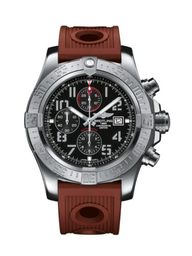 Breitling A1337111/BC28/206S/A20D.2 : Super Avenger II Stainless Steel / Volcano Black / Rubber / Folding
