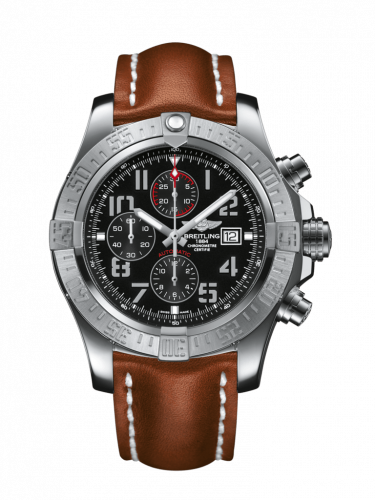 Breitling A1337111/BC28/440X/A20D.1 : Super Avenger II Stainless Steel / Volcano Black / Calf / Folding