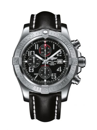 Breitling A1337111/BC28/441X/A20BA.1 : Super Avenger II Stainless Steel / Volcano Black / Calf / Pin