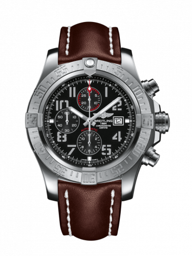 Breitling A1337111/BC28/443X/A20BA.1 : Super Avenger II Stainless Steel / Volcano Black / Calf / Pin