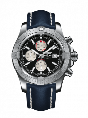 Breitling A1337111/BC29/101X/A20BA.1 : Super Avenger II Stainless Steel / Volcano Black / Calf / Pin