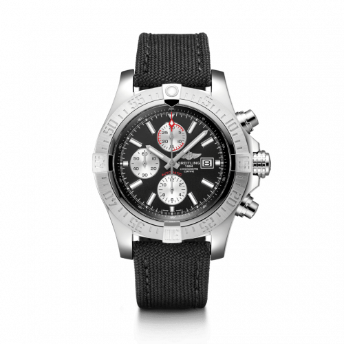 Breitling A1337111/BC29/104W/A20BA.1 : Super Avenger II Stainless Steel / Volcano Black / Military