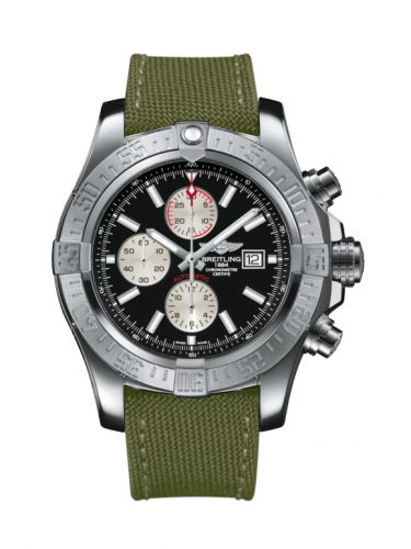 Breitling A1337111/BC29/105W/A20BA.1 : Super Avenger II Stainless Steel / Volcano Black / Military / Pin