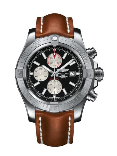 Breitling A1337111/BC29/439X/A20BA.1 : Super Avenger II Stainless Steel / Volcano Black / Calf / Pin
