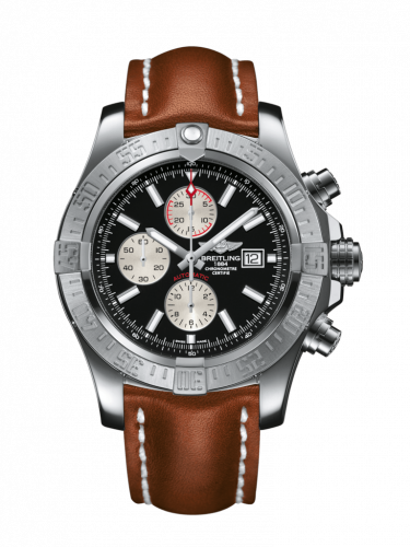 Breitling A1337111/BC29/440X/A20D.1 : Super Avenger II Stainless Steel / Volcano Black / Calf / Folding