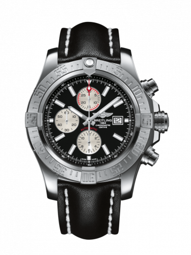 Breitling A1337111/BC29/441X/A20BA.1 : Super Avenger II Stainless Steel / Volcano Black / Calf / Pin