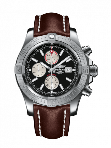 Breitling A1337111/BC29/443X/A20BA.1 : Super Avenger II Stainless Steel / Volcano Black / Calf / Pin