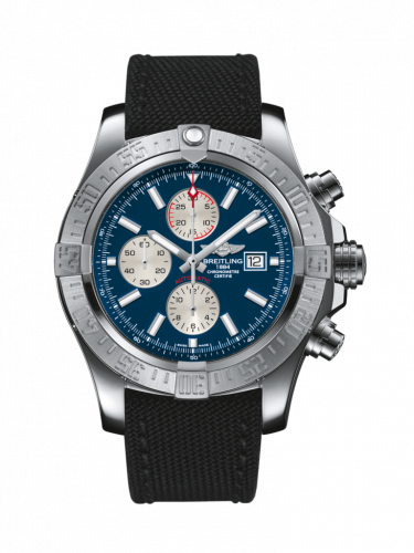 Breitling A1337111/C871/104W/A20BA.1 : Super Avenger II Stainless Steel / Mariner Blue / Military / Pin