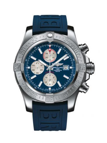 Breitling A13371111C1S2 : Super Avenger II Stainless Steel / Mariner Blue / Rubber / Pin