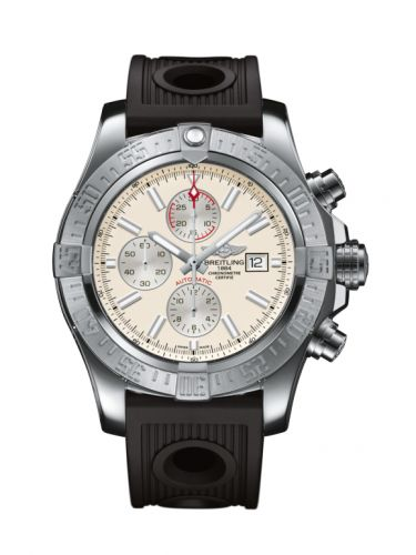 Breitling A1337111/G779/201S : Super Avenger II Stainless Steel / Stratus Silver / Rubber