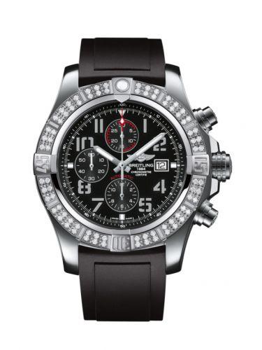 Breitling A1337153/BC28/135S : Super Avenger II Stainless Steel / Diamond / Volcano Black / Rubber / Pin