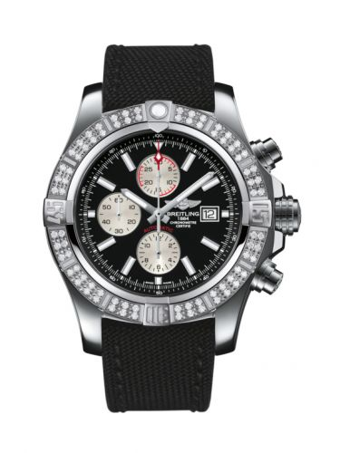 Breitling A1337153/BC29/104W/A20BA.1 : Super Avenger II Stainless Steel / Diamond / Volcano Black / Military / Pin