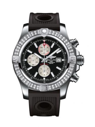 Breitling A1337153/BC29/201S : Super Avenger II Stainless Steel / Diamond / Volcano Black / Rubber / Pin