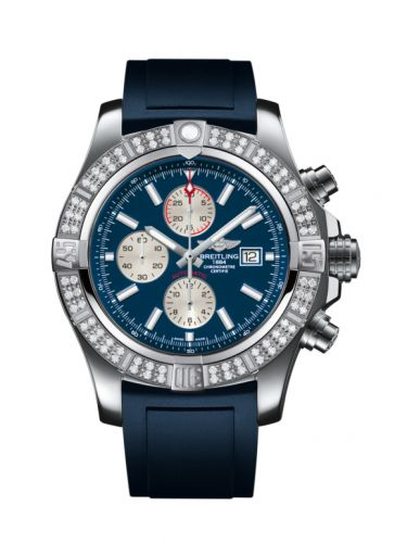 Breitling A1337153/C871/139S/A20S.1 : Super Avenger II Stainless Steel / Diamond / Mariner Blue / Rubber / Pin
