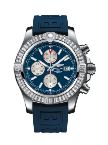 Breitling A1337153/C871/159S/A20S.1 : Super Avenger II Stainless Steel / Diamond / Mariner Blue / Rubber / Pin