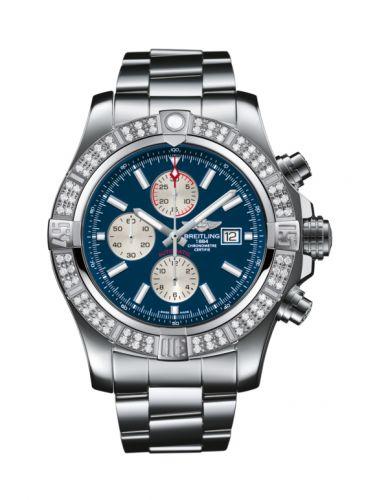 Breitling A1337153/C871/168A : Super Avenger II Stainless Steel / Diamond / Mariner Blue / Bracelet
